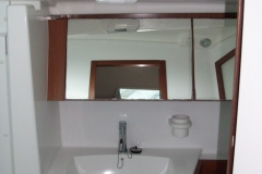 The bathroom of the sailing boat